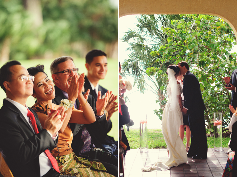 powel crosley estate wedding: first kiss
