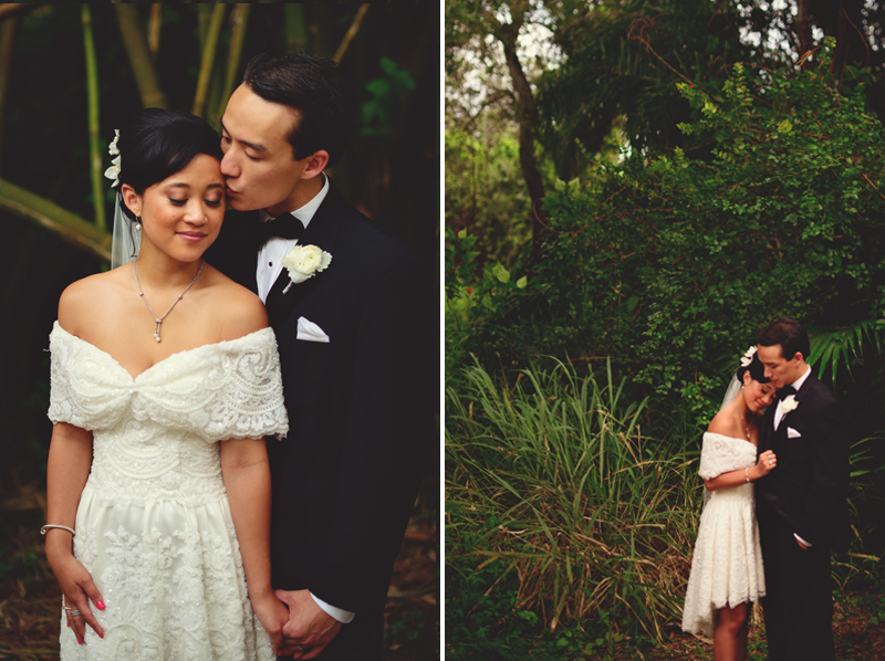 powel crosley estate wedding: bride and groom romantic portraits