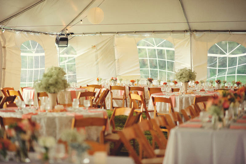 powel crosley estate wedding: tent wedding reception