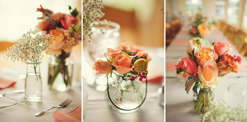powel crosley estate wedding: center pieces