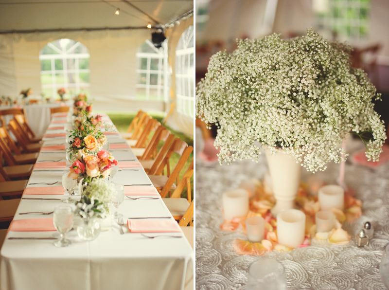 powel crosley estate wedding: reception decor