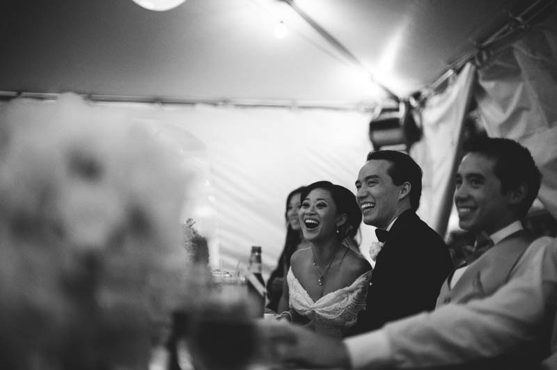 powel crosley estate wedding: bride and groom laughing