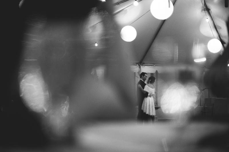 powel crosley estate wedding: bride and groom first dance