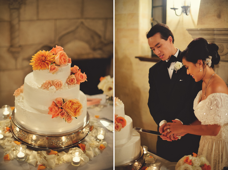 powel crosley estate wedding: cake cutting