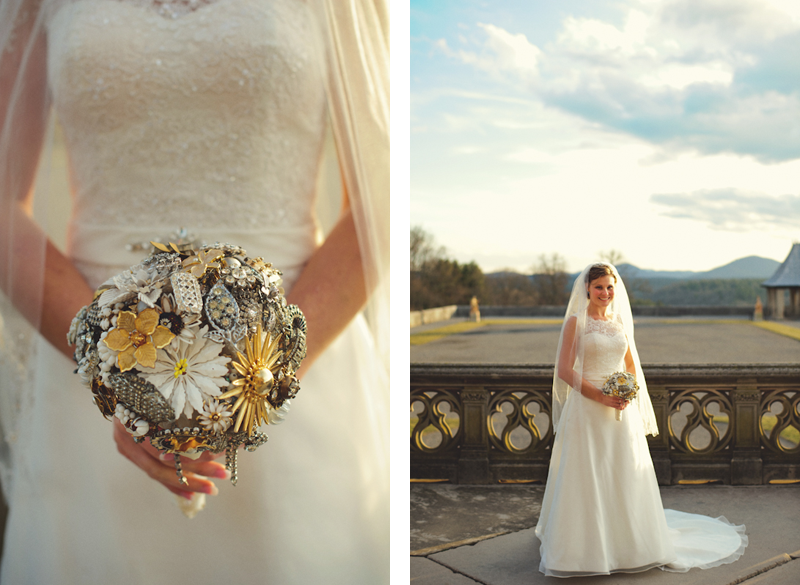 Biltmore Estate Wedding: bride broach bouquet
