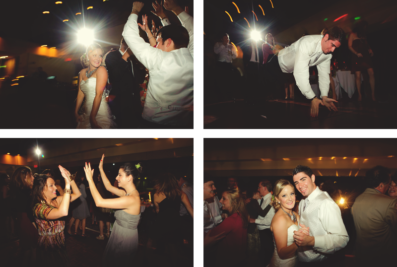 jacksons bistro: fun bride and groom dancing