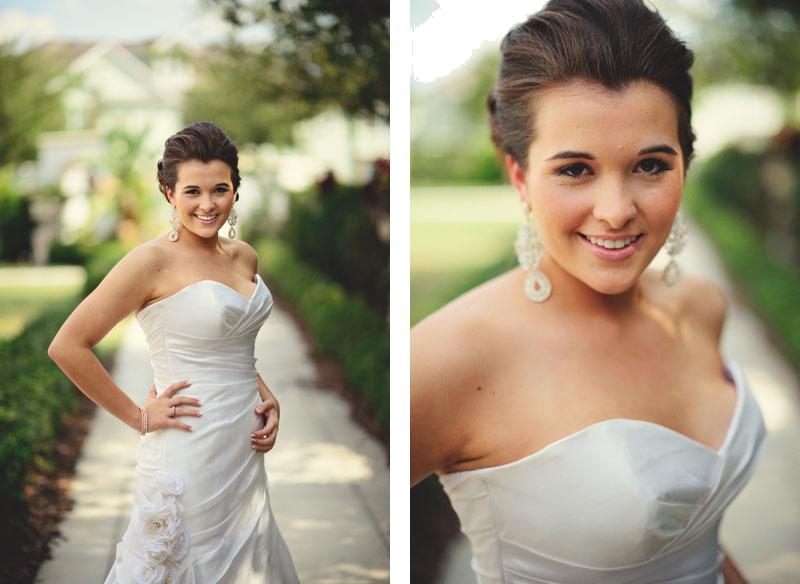 Palmetto Club Wedding: bridal portraits