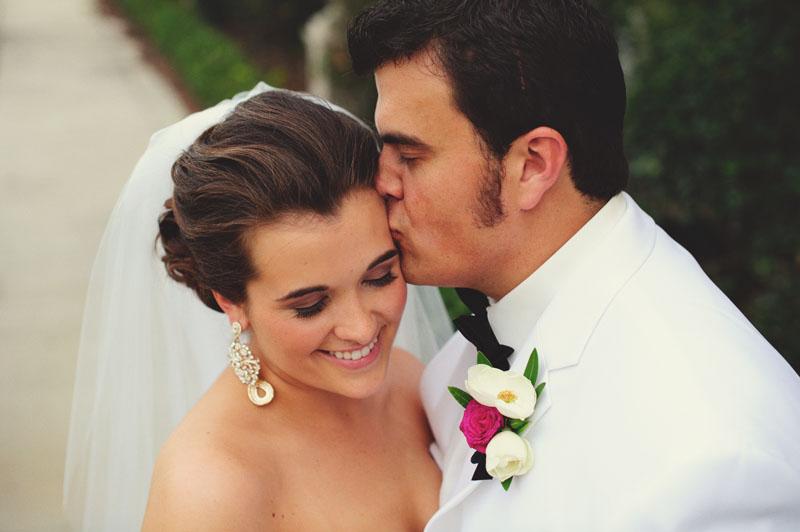 Palmetto Club Wedding: bride and groom