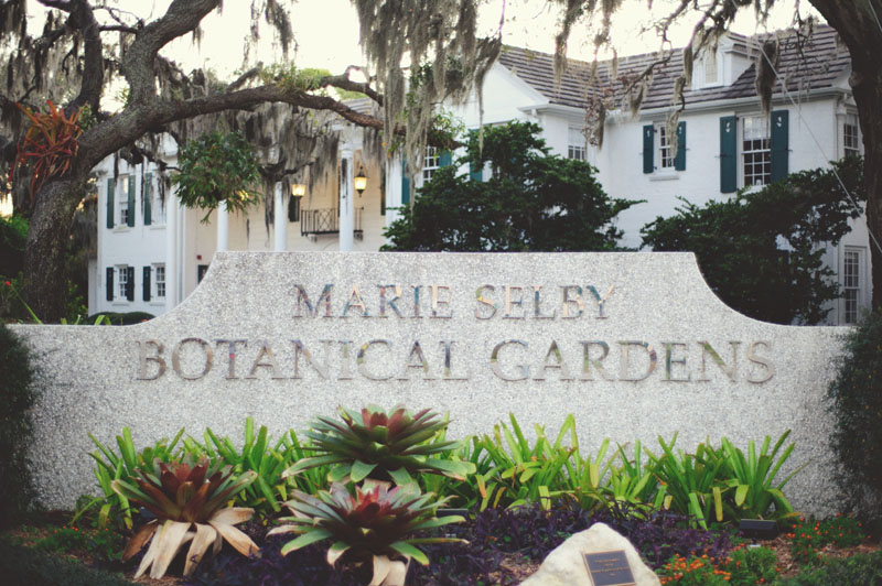 Selby Gardens Sarasota sign