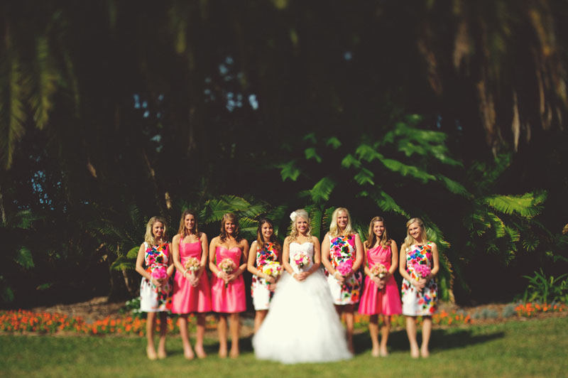 bridesmaids different colors dresses