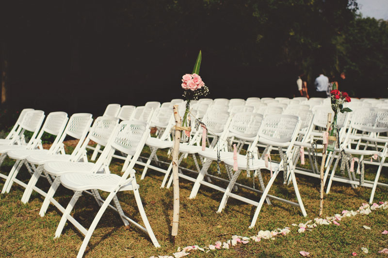 Selby Gardens Wedding: chairs