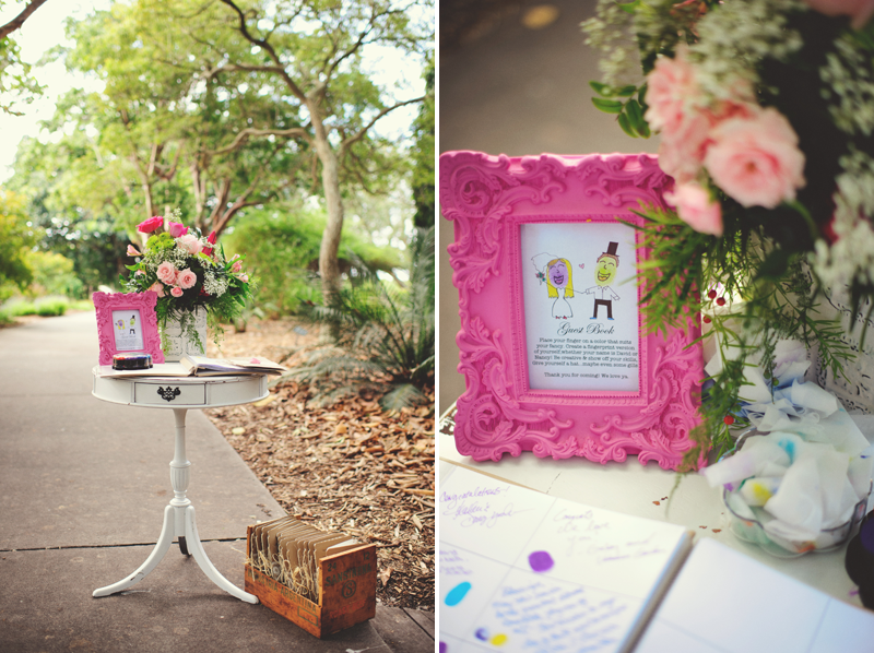 Selby Gardens Wedding: sign in guest book
