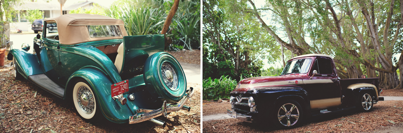 Selby Gardens Wedding: vintage cars