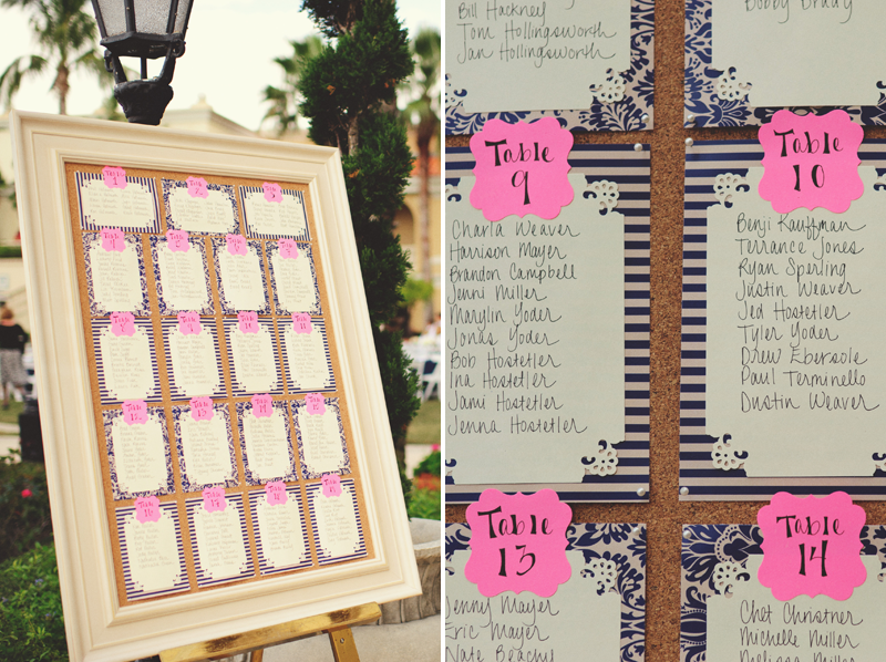 ritz carlton sarasota wedding: table seating chart