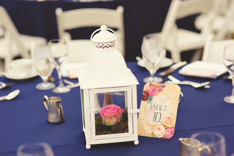 ritz carlton sarasota wedding: table lantern