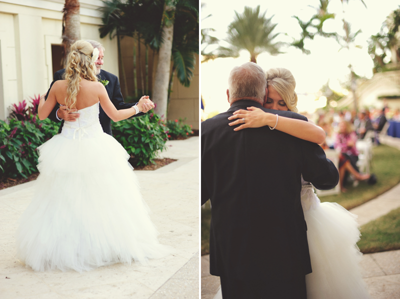 ritz carlton sarasota wedding: father daughter dance