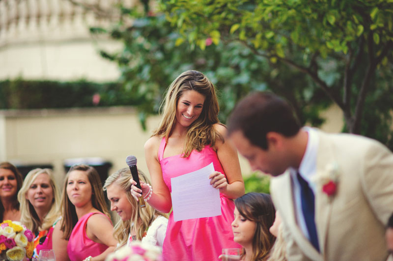 ritz carlton sarasota wedding: bridesmaid toast