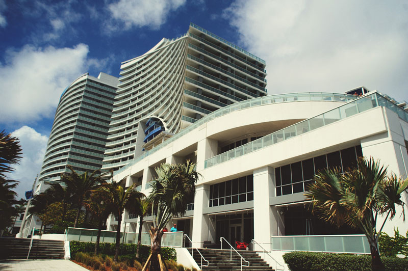w hotel ft lauderdale wedding: front building