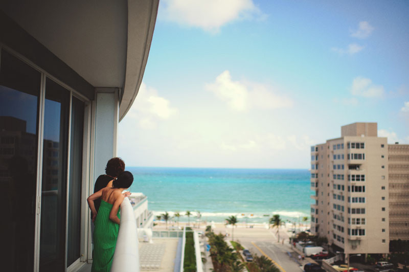 w hotel ft lauderdale wedding: balcony
