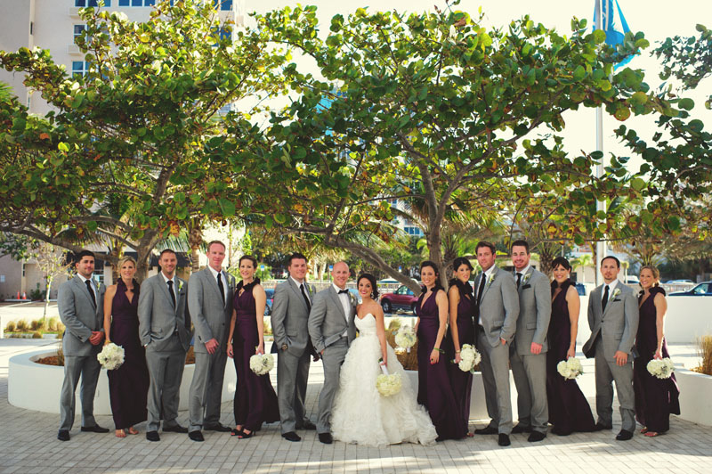 w hotel ft lauderdale wedding: bridal party