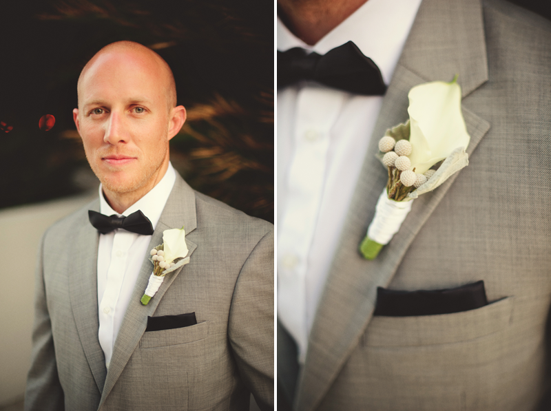 w hotel ft lauderdale wedding: groom boutonniere