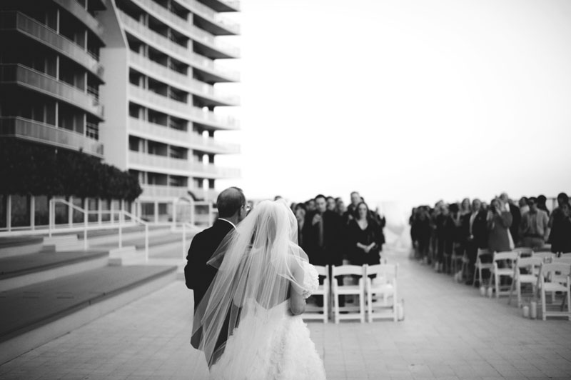 w hotel ft lauderdale wedding: father walking daughter
