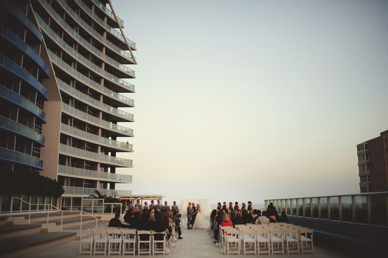ceremony on the patio w ft. lauderdale