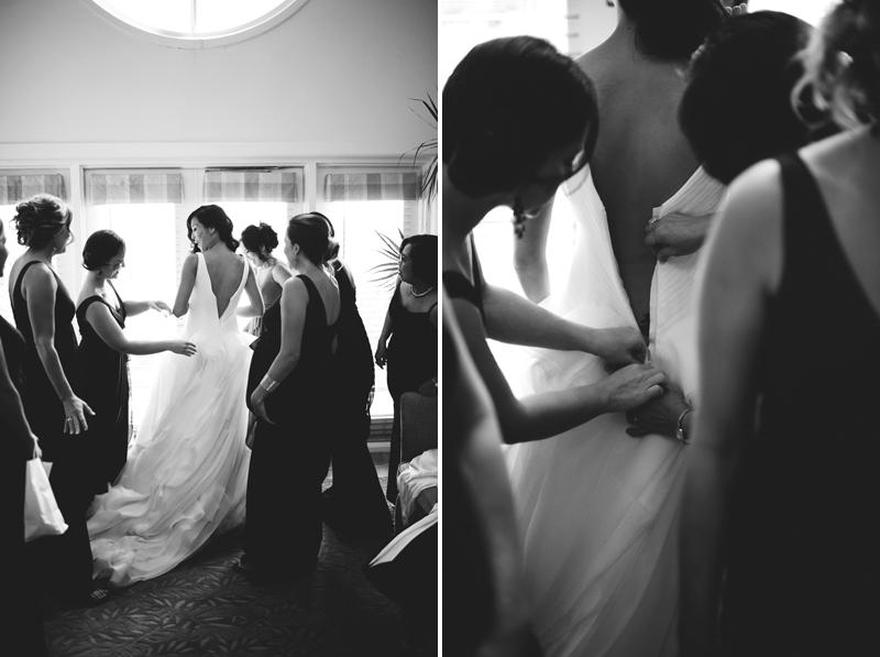 grand hyatt tampa bay wedding: bride getting dressed