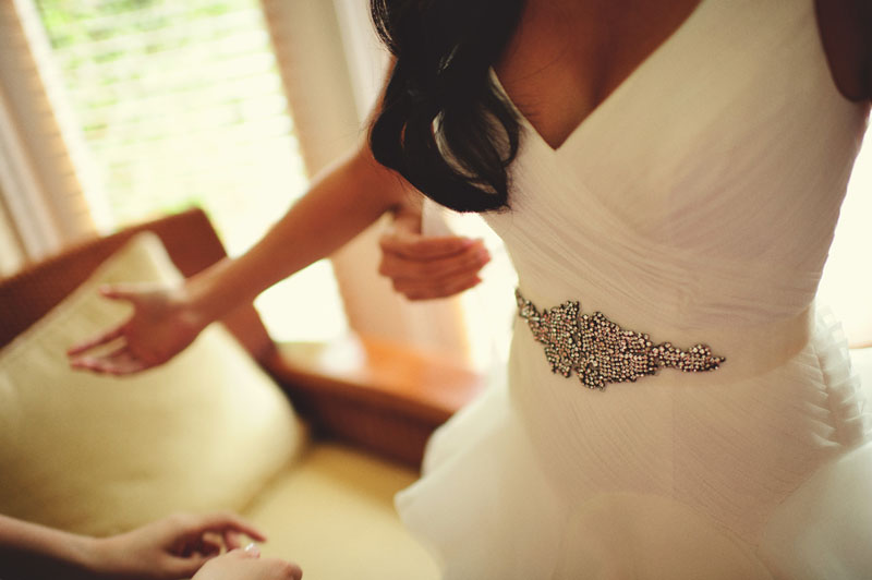 grand hyatt tampa bay wedding: vera wang dress