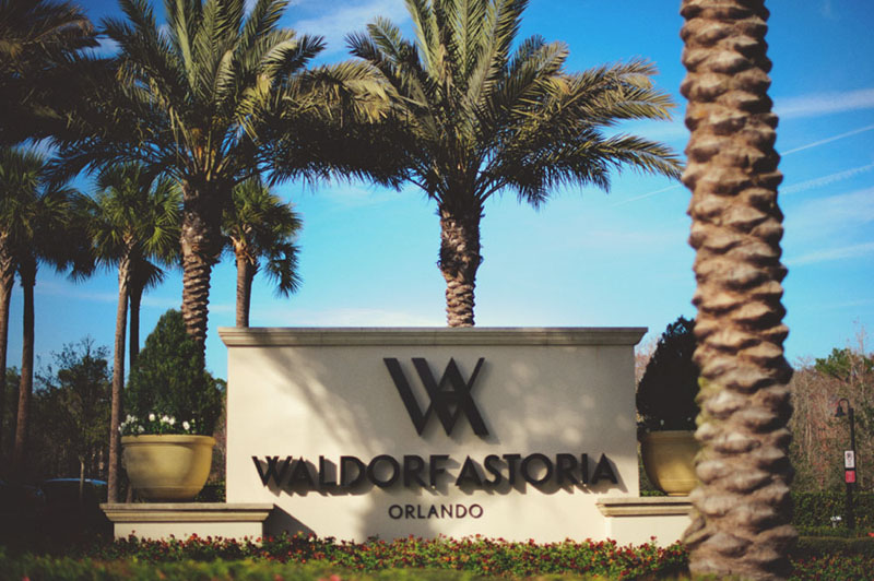 waldorf astoria orlando sign
