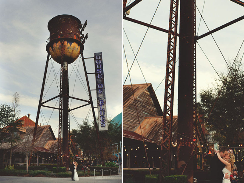 House of Blues Wedding: water tower pictures