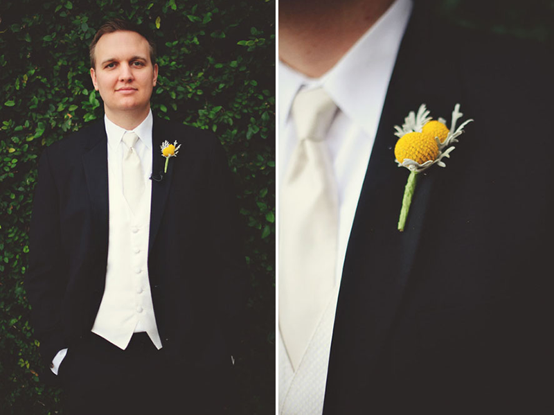 Botanica groom boutonniere House of Blues Wedding: