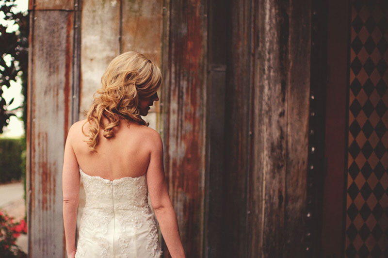House of Blues Wedding: bride's back