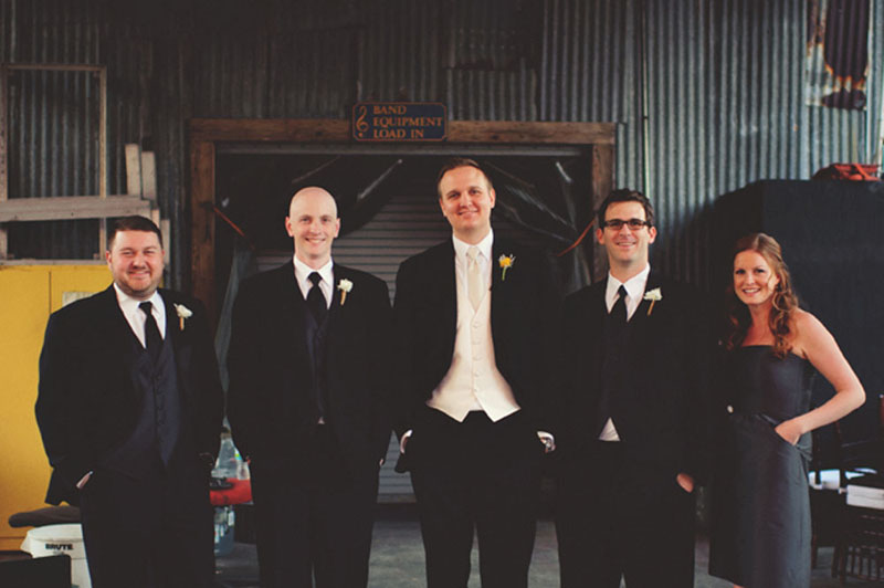 House of Blues Wedding: groomsmen
