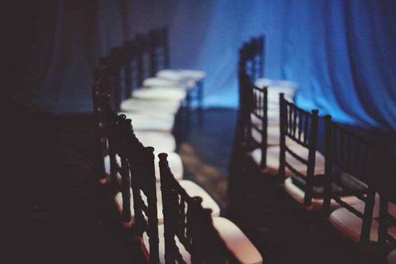 House of Blues Wedding: chiavari chairs