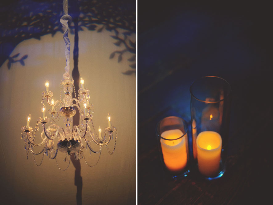 House of Blues Wedding: chandelier candles