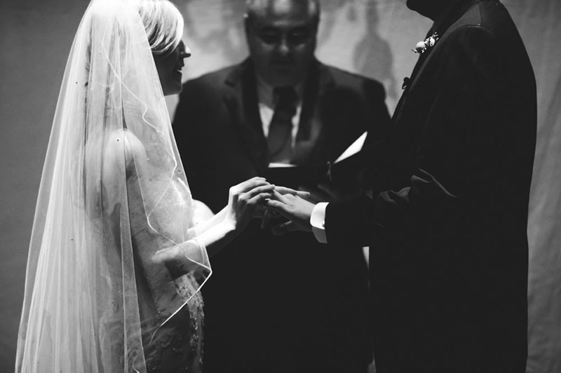 House of Blues Wedding: ring exchange