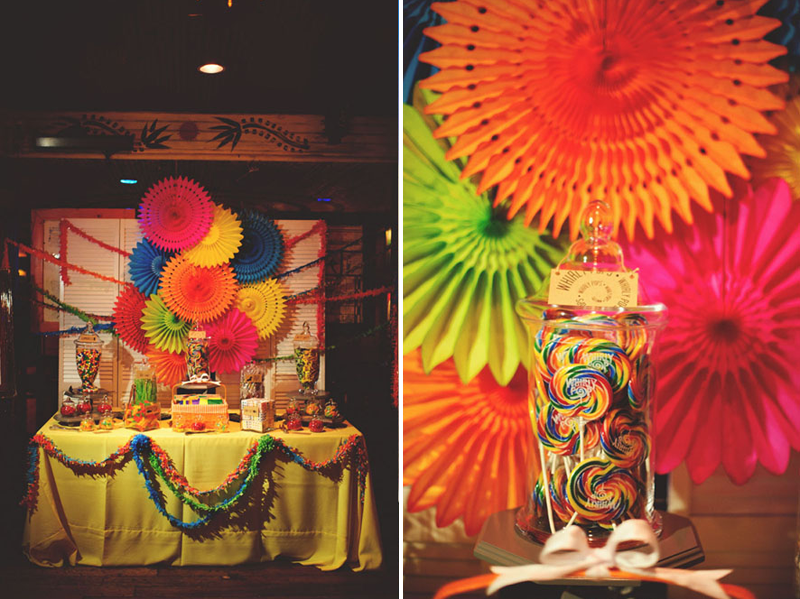 House of Blues Wedding: candy bar
