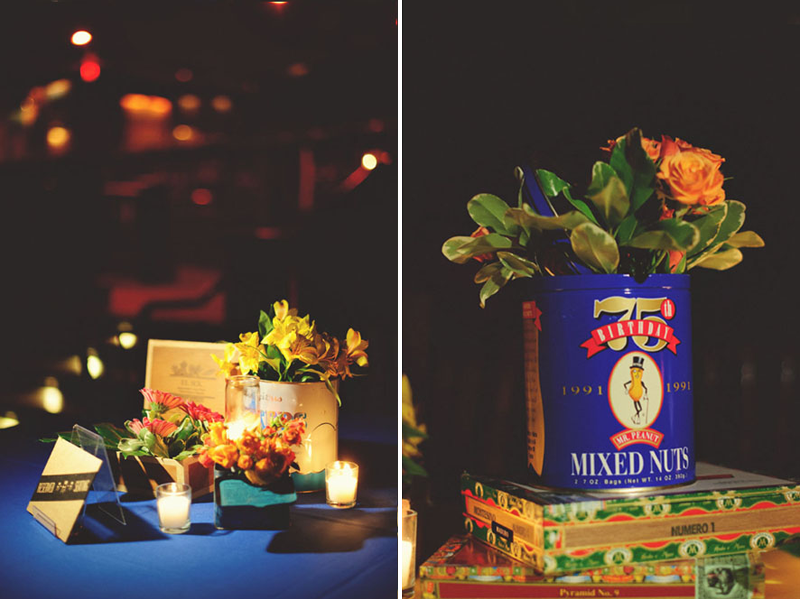 House of Blues Wedding: botanica center pieces