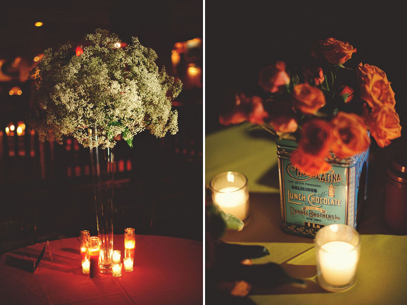House of Blues Wedding: center pieces
