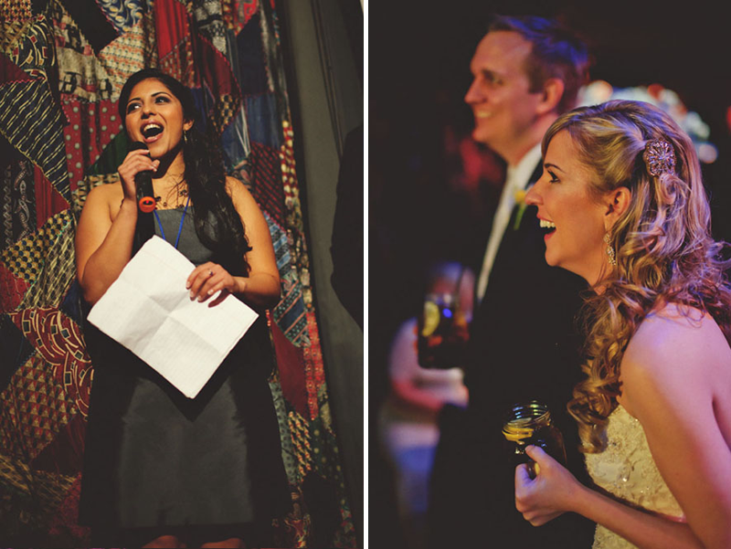 House of Blues Wedding: maid of honor toast