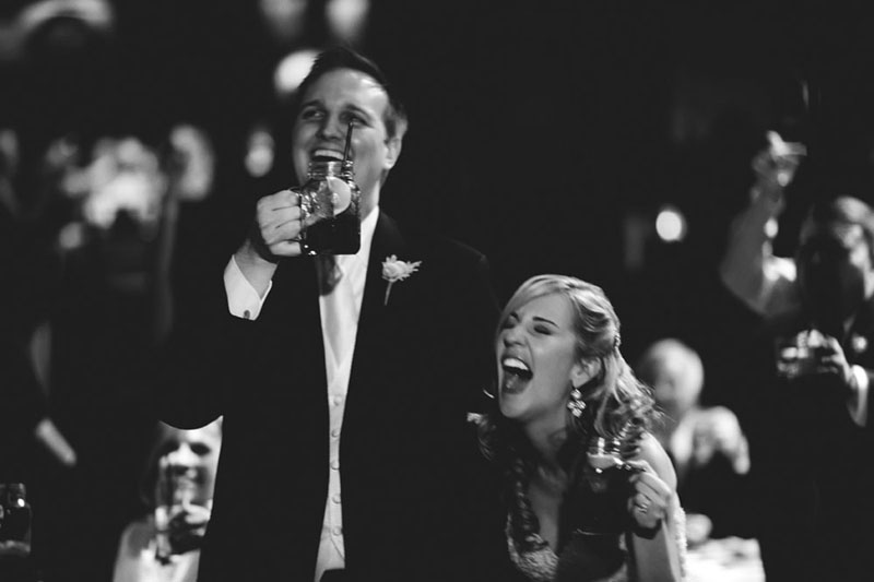 House of Blues Wedding: toast laughing