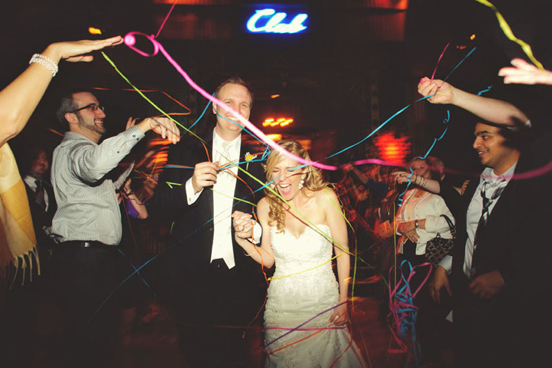 House of Blues Wedding: send off streamers