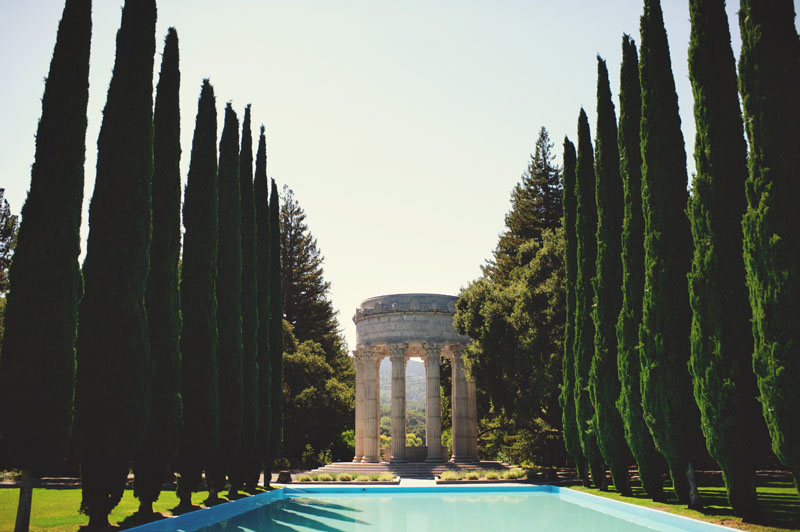 pulgas water temple wedding pool
