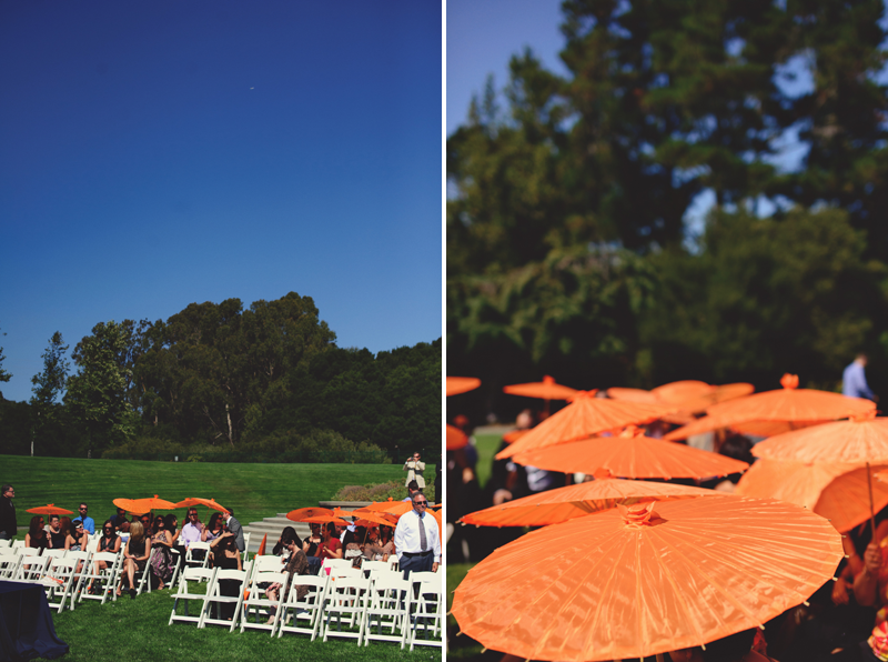 pulgas water temple wedding: umbrellas