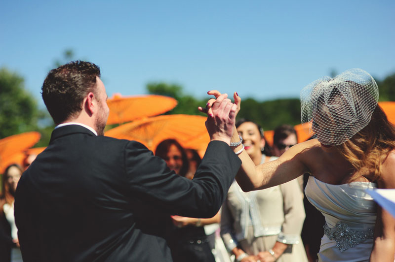 pulgas water temple wedding: high five