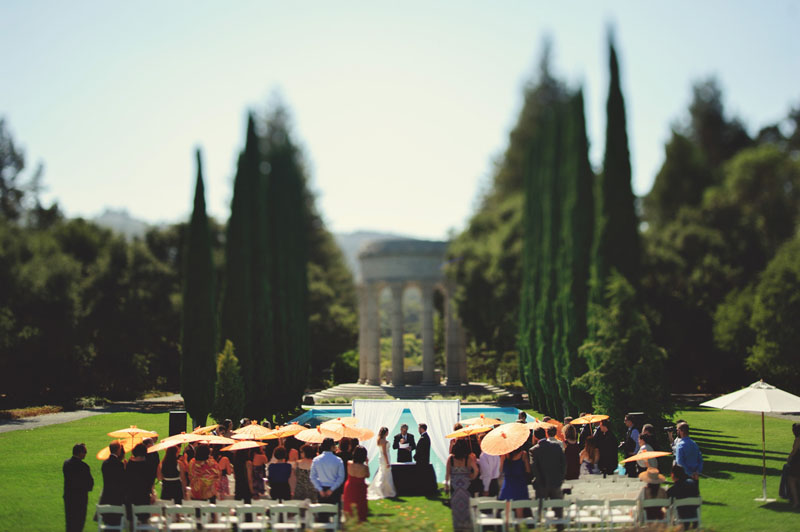 pulgas water temple wedding: ceremony
