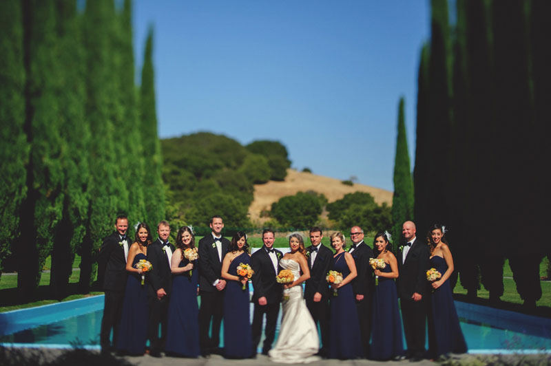 pulgas water temple wedding: bridal party