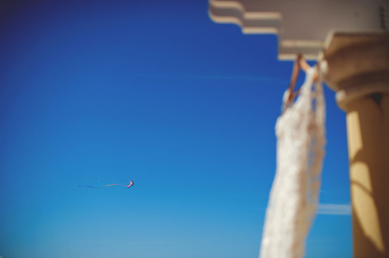 hyatt clearwater wedding: kite