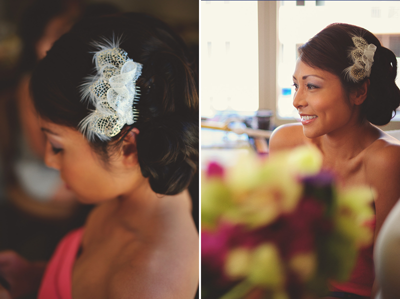 hyatt clearwater wedding: hair piece